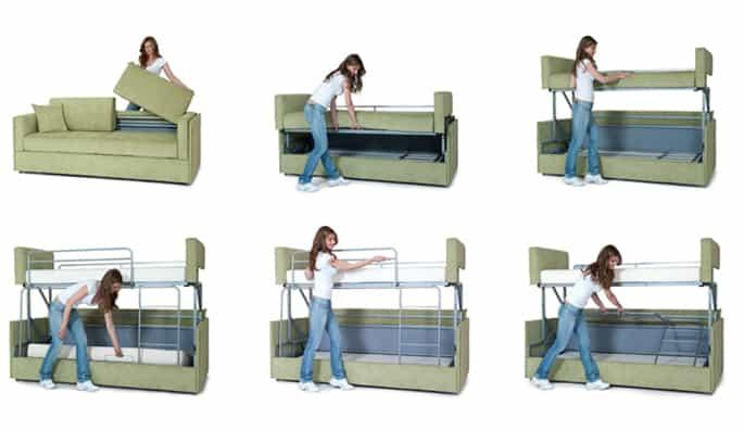 部屋が狭い君に朗報。トランスフォームするソファが素敵&面白い2.jpg
