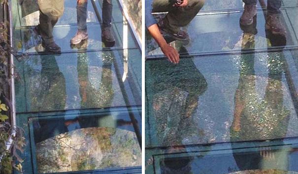 【崩壊寸前】中国で上空1080mにあるガラス張りの歩道が割れる。【ニュース】5.jpg