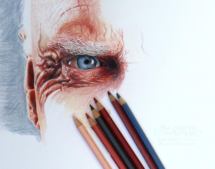 【超リアル】色鉛筆だけで描いた人物画が凄い。2.jpg