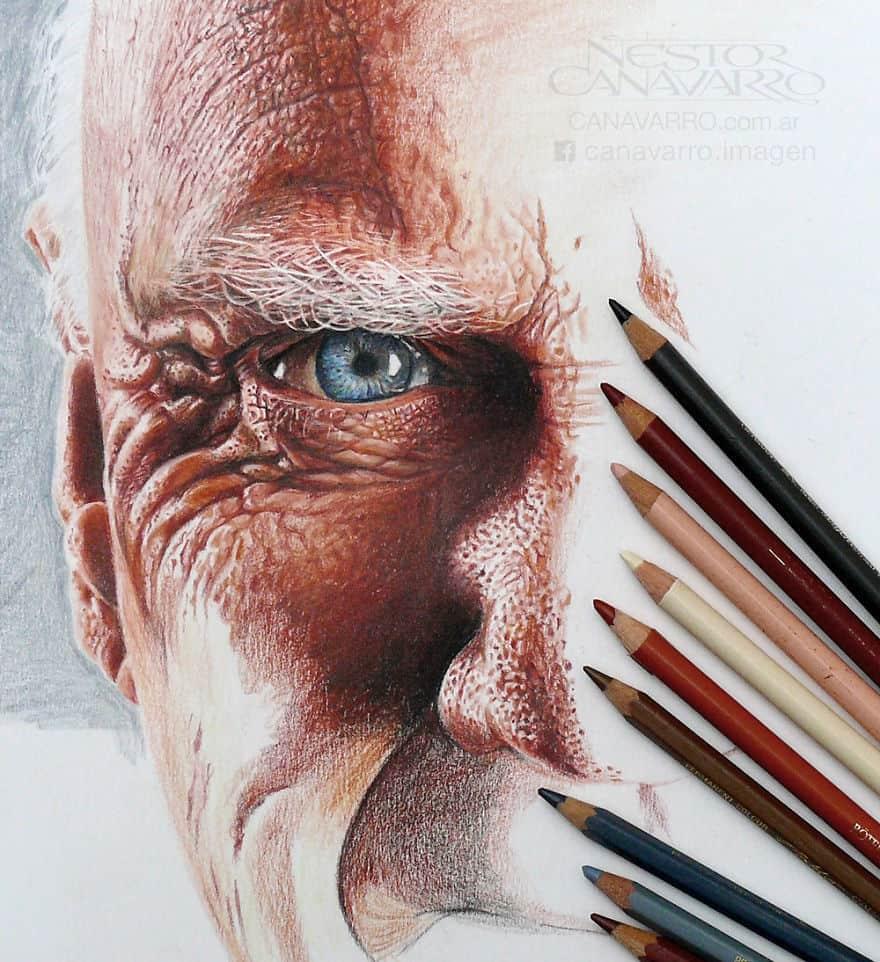 【超リアル】色鉛筆だけで描いた人物画が凄い。3.jpg
