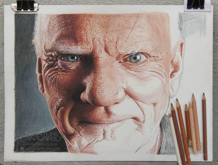 【超リアル】色鉛筆だけで描いた人物画が凄い。4.jpg