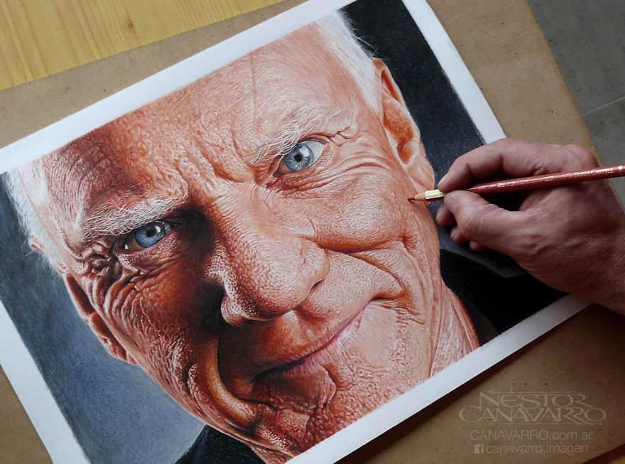 【超リアル】色鉛筆だけで描いた人物画が凄い。6.jpg
