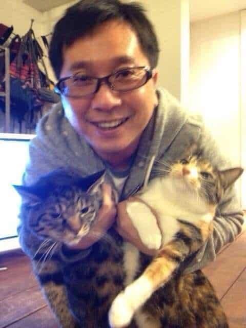 猫好き田中裕二と山口もえ。.jpeg