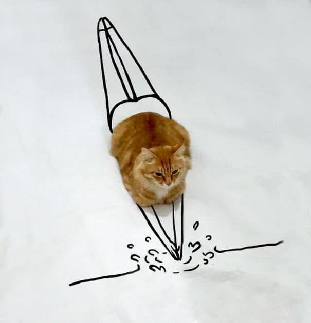 Too-Crazy-The-new-portrait-of-lovely-Cat-through-creative-drawing-of-young-people4__605